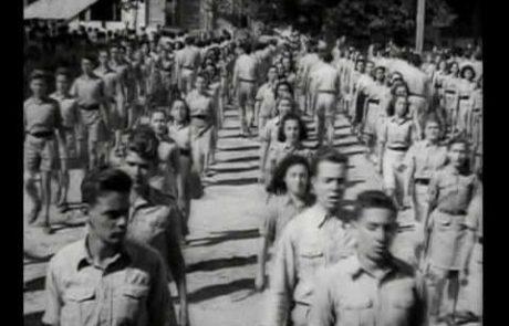 יום השואה הראשון בגימנסיה הרצליה 1946